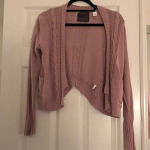 Pink Anthro cardigan